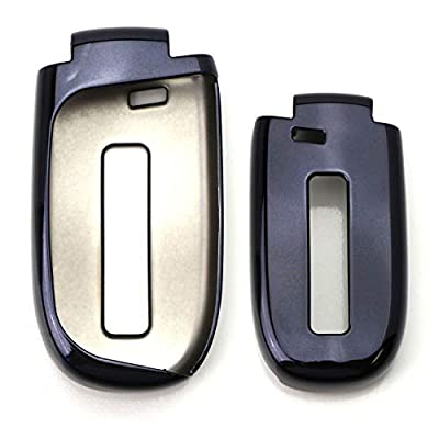 iJDMTOY Chrome Finish Black TPU Key Fob Protective Cover Case Compatible With Chrysler 200 300, Dodge Charger Challenger Dart Durango Journey, Jeep Grand Cherokee, Renegade, etc: Automotive