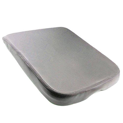 AUTOKAY Armrest Center Console Leather Synthetic Cover Skin for Dodge Ram 2002-2008 ... (gray) ()