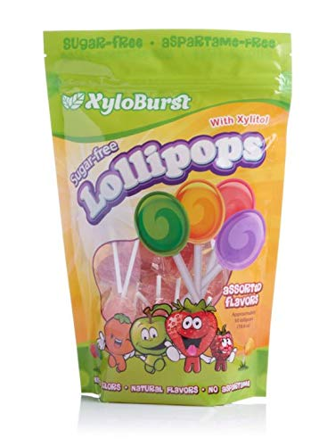 Focus Nutrition, Xyloburst, Sugar-Free Xylitol Lollipops, Assorted Flavors, Dentist Recommended - 50 Count