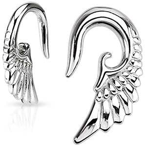 Body Accentz Earrings Rings 316l Surgical Steel Swirl Twist Tapers Sold As a Pair 10g Rainbow
