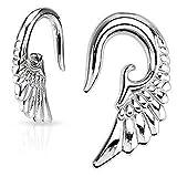 Earrings Rings 316L Surgical Steel Angelic Wing Hanging Taper 2 Gauge - Sold as a pair