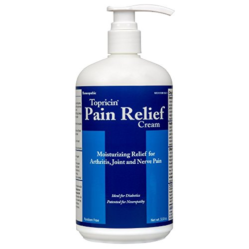 (Topricin Pain Relief Therapy Cream (32 oz) Fast Acting Pain Relieving Rub for Back & Neck Aches, Fibromyalgia, Sciatica, Plantar Fasciitis, Sore Muscles & Joints, Carpal Tunnel, Chronic Pain)