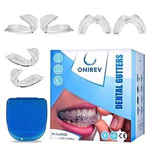 [6 en 1]Gouttière dentaire anti bruxisme – dispositif professionnel – Thermosensible – nocturne traitement ATM – évite…