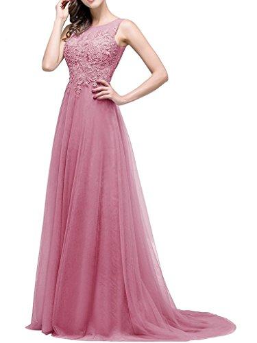 Ysmo - Vestido - trapecio - para mujer Dusty-pink