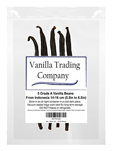 (5 Beans Tahitian) Indonesian – Vanilla Beans Grade A – (15-20% Moisture) by MITO INC