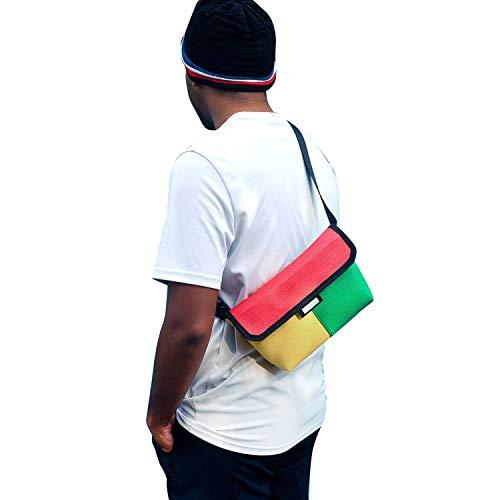 Rasta Rubber Waist Bag Waterproof Bag Bum Bag Reggae Bag Adjustable ()