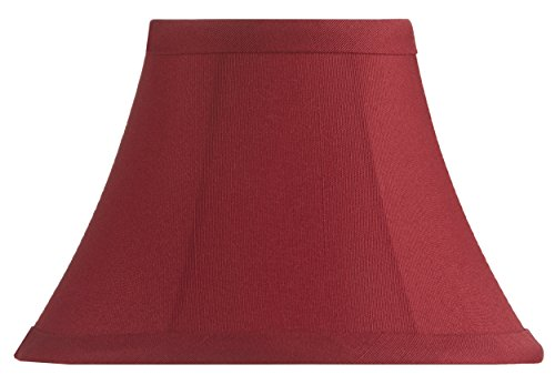 - Upgradelights Crimson Red Shantung Five Inch Clip on Chandelier Lampshade 2.5x5x4
