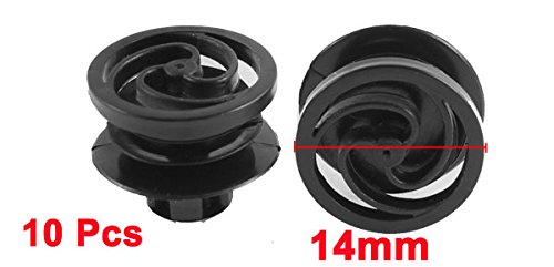 uxcell a15071500ux0102 10 Pcs Black Plastic Splash Guard Door Trim Mat Clip for VW Passat B5 Pack