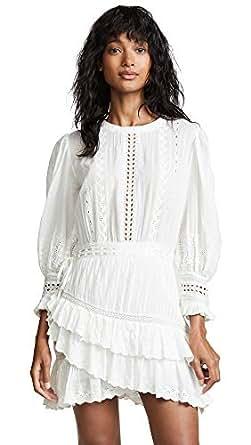 LOVESHACKFANCY Women's Lorelei Dress, Ivory, Small