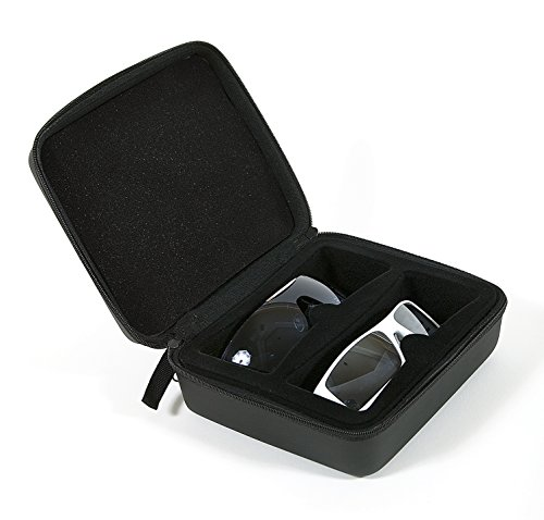 Multiple Sunglass Case - Black Hard Case to Protect Your Eyewear - Latest Stylish Design - Perfect Case for Your Awesome Sunglasses - Protect Your Investment - The Perfect Eyewear - Sunglasses Shark Tank
