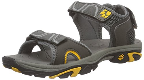 Jack Wolfskin LAKEWOOD RIDE SANDAL B, Jungen Sport- & Outdoor Sandalen, Grau (burly yellow 3800), 34 EU (2 Kinder UK)