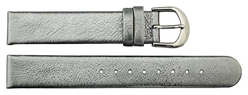 Leather Band Replacement, Metallic Pattern, Pin Clasp, 16mm Strap _ B16013 ()