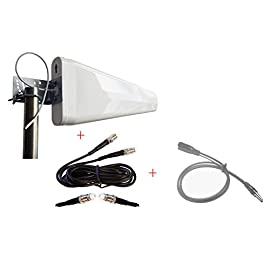 External Wide Band yagi Antenna for NETGEAR Aircard 815S AC815s Mobile Hotspot AT&T Unite Explore 11DB w/ 30ft Low-Loss… 11 Highest Gain Wide-Band Log Periodic Yagi Antenna with 30ft cable and mounting hardware Antenna adapter cable for NETGEAR Aircard 815S AC815s Mobile Hotspot AT&T Unite Explore Frequency: 698-960/1710-2700 MHz