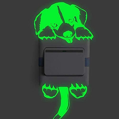 New Carton Luminous Switch Sticker Kid Room Glow In The Dark Wall Stickers Home