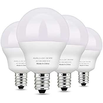 albrillo e12 led bulb candelabra bulbs 5w 40 watt equivalent warm white 2700k 4 pack - E12 Led Bulb