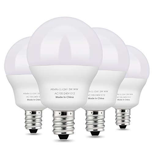 Albrillo E12 LED Bulb Candelabra Bulbs 5W, 40 Watt Equivalent, Warm White 2700K, 4 Pack