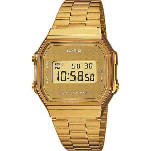 Casio correa de reloj A168WG-9BWEF / A168WG-9BW Acero Dorado 18mm(Sólo reloj correa - RELOJ NO INCLUIDO!): Amazon.es: Relojes