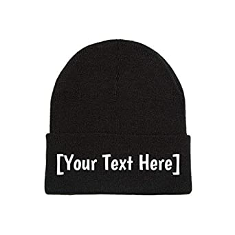 Amazon.com  Custom Beanie Personalized with Your Own Text ... 2f1690a9f0f