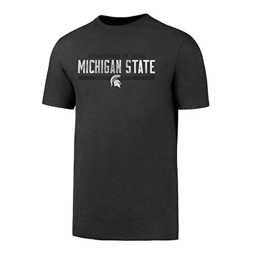 OTS NCAA Michigan State Spartans Men's Rival CB Distressed Tee, Charcoal, (Michigan State University Shorts)