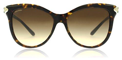 Bvlgari BV8188B 504/13 Dark Havana BV8188B Square Sunglasses Lens Category 3 Si