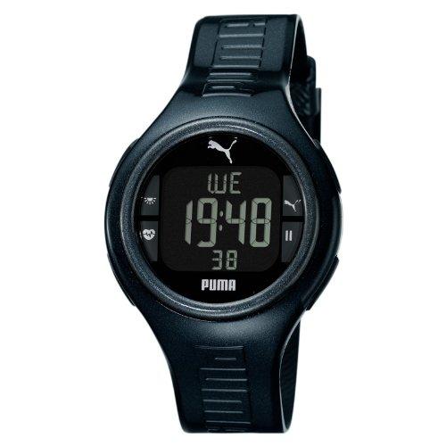 Puma PU910541006 - Reloj digital de cuarzo para hombre con correa de caucho, color negro: Amazon.es: Relojes