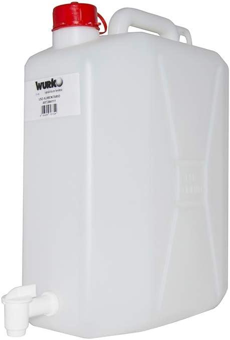 Wurko 044111 - Bidon plastico con Grifo 20l.Blanco