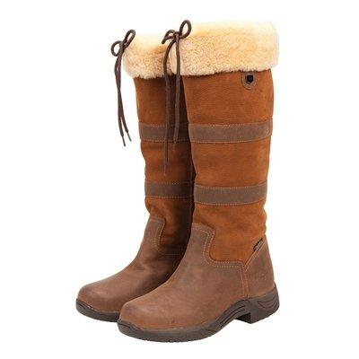 Dublin Fleece - Dublin Ladies Eskimo River Fleece Boots - Size:06.5 Color:Chocolate