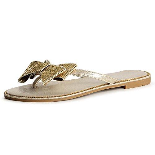 topschuhe24 Sandales Femmes Sandalettes Femmes Or Or Sandales topschuhe24 topschuhe24 Sandalettes wUqRRanPx7