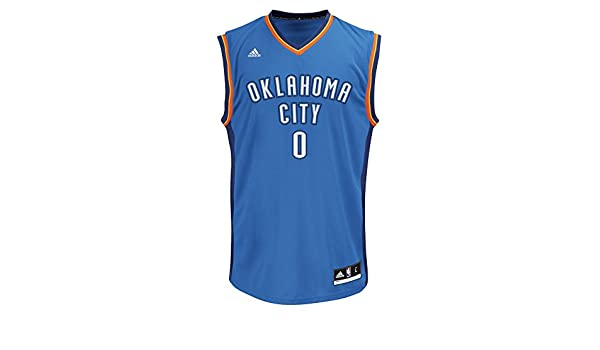 Adidas - Camiseta de Manga Corta para Hombre, diseño de NBA, Hombre, Replica Player Road Jersey, Azul, 2 X-Grande: Amazon.es: Deportes y aire libre