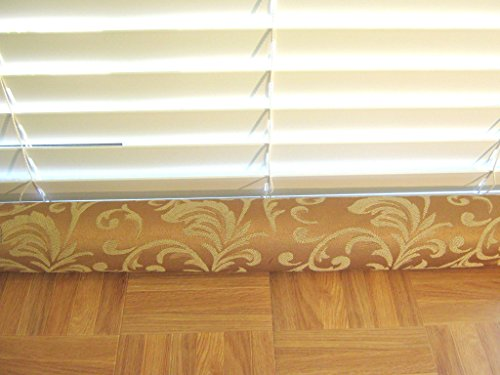 Door Draft Stopper Fabric Only Medium Weight Gold Tone on Tone Fabric Custom Made 24