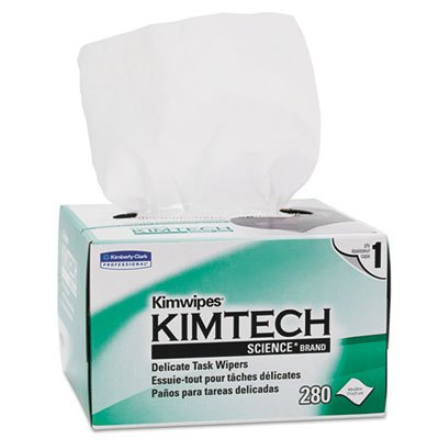 Kimtech Science KimWipes Delicate Task Wipers; 4.4 x 8.4 in. (11.2 x 21.3cm); 1-ply 280 count