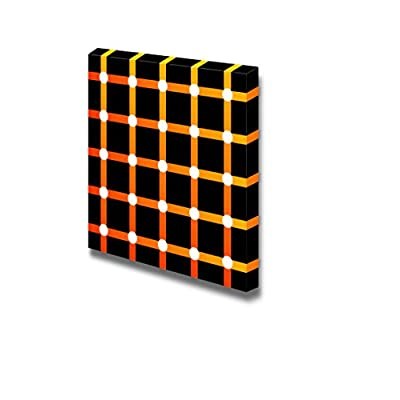 Canvas Prints Wall Art - Orange Pattern on Black Background | Modern Wall Decor/Home Decoration Stretched Gallery Canvas Wrap Giclee Print. Ready to Hang - 16