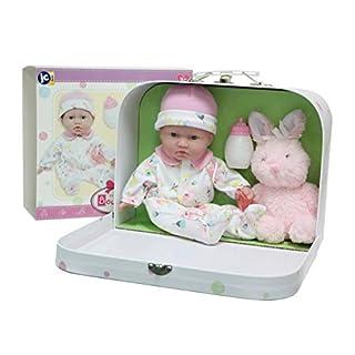 """JC Toys, La Baby 11"""" Soft Body Play Doll Body Travel Case Gift Set, Pink"""