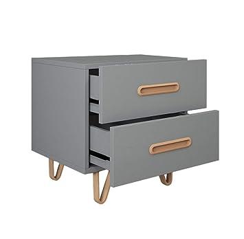 Amazon Com Rectangular Bedside Table Gray Metal Cabinet
