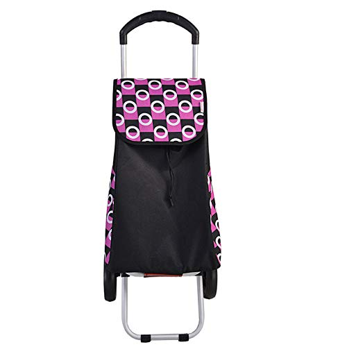 Red Shopping Trolley 2 Wheels, Folding, Strong Stable Mobility Aid, Ladies, Mens and Unisex Designs