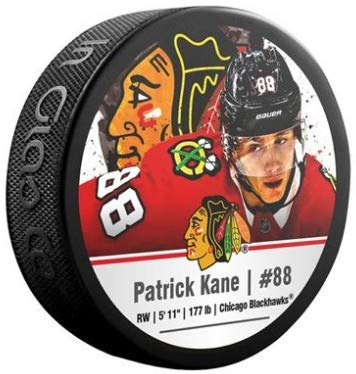 NHL Patrick Kane Chicago Blackhawks Sher-Wood Stars Photo Hockey Puck