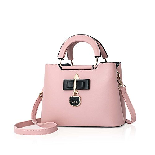 Fashoin Hardware Women Shoulder Pink Black Casual PU Girls for Crossbody Bag Tote New NICOLE Bag 2018 Handbag Bag Pendant amp;DORIS pSq0pOAwt