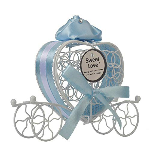️1 Pc Candy Boxes Romantic Carriage Sweets Chocolate Box for Wedding Party Home Decor (Blue) by Caslia (Image #2)