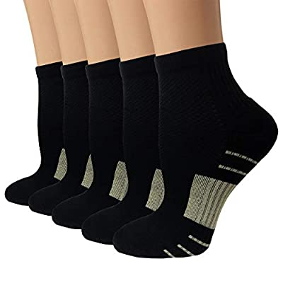 Copper Compression Running Socks For Men & Women-5/10 Pairs-Fit for Athletic,Travel& Medical