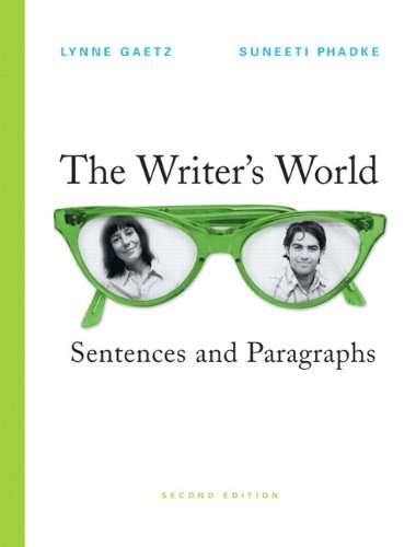 The Writer's World: Sentences and Paragraphs, 2nd Edition