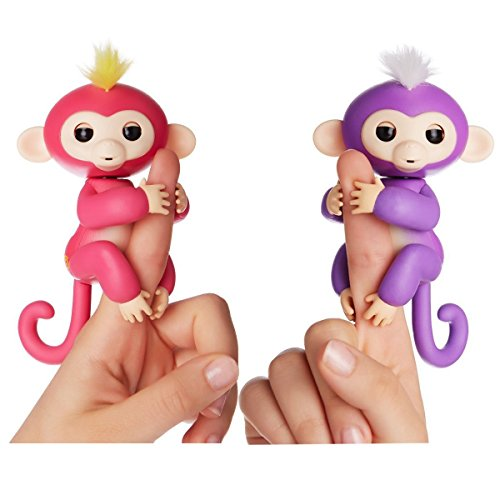 Fingerlings Interactive Baby Monkeys 2 Pack  Mia  Purple With White Hair   Bella  Pink With Yellow Hair