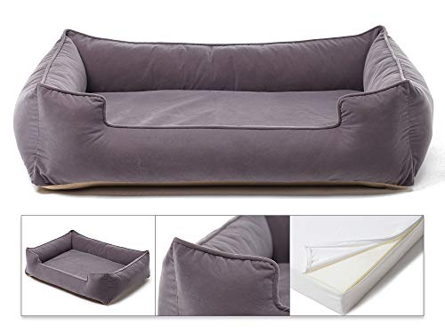 Petsbao Premium Dog Bed with 4'' Solid Memory Foam   Waterproof Liner   Cover Washable & Removable (Large 39 x 30.5 x 9.8 inch, Gray) by Petsbao (Image #5)