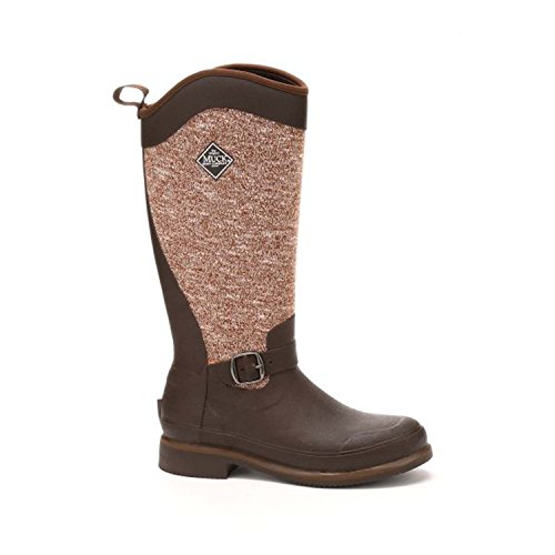 Muck Reign Supreme Rubber Women's Winter Riding Boots, Brown/Bison, Size 9
