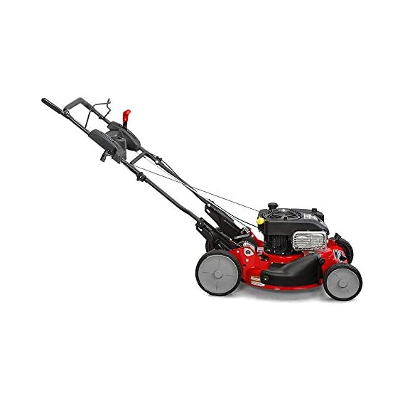 """Snapper RP2185020 / 7800981 NINJA 190cc 3-N-1 Rear Wheel Drive Variable Speed Self-Propelled Lawn Mower with 21-Inch Deck and Ready Start System, Ninja Mulching Blade and 7 Position Heigh-of-Cut 5 <p>Snapper RP2185020 NINJA Series Lawn Mower. Best mower for mulching fans, the Snapper Ninja walk-behind lawn mower's powerful blade with 6 cutting surfaces finely mulches grass clippings while the deck blows them back into your yard. This Snapper 21"""" lawn mower features a rear wheel drive system with high 10"""" rear wheels for superior traction on hills & thick grass. The reliable Briggs & Stratton professional series OHV engine keeps you going with professional-grade features from ready start technology to quieter operation & increased durability. Briggs & Stratton 850 professional Series engine with ready start starting system no priming, no choking. Just pull and go Rear wheel drive improves walk behind mower traction and the smooth turn differential helps ensure easy maneuverability without damaging your grass Ninja blade features 6 powerful cutting surfaces to finely mulch your grass while the deck design blows them back into the lawn Rugged solid Steel front Axle and stamped Steel mower deck provides long lasting performance season after season Easily change the height of cut with the easy to use adjustment handles (7 height of cut adjustments from 1.25 Inch to 4 inch)</p>"""