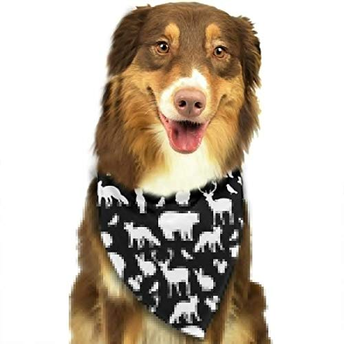 TNIJWMG Woodland Party On Black Bandana Triangle Bibs Scarfs Accessories for Pet Cats and -