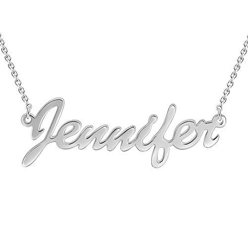 SOUFEEL Custom Name Necklace Jennifer Style Personalized Nec