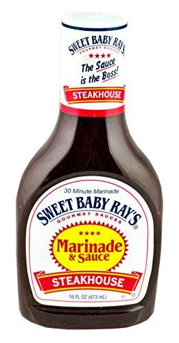 Sweet Baby Rays Marinade & Sauce, Steakhouse, 16 Fl. Oz. (Pack of 3) (Best Overnight Steak Marinade)