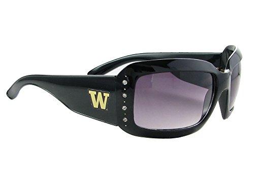 - Sports Accessory Store Washington Huskies UW Black Fashion Crystal NCAA Sunglasses S4JT