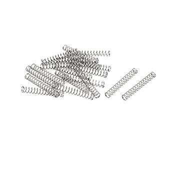 sourcing map Muelles de compresión de acero inoxidable 304 ...