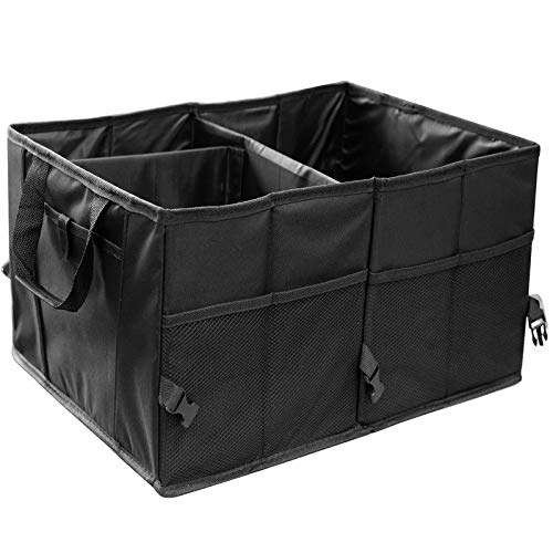 Accessory Tote Boot (Trunk Organizer for Car SUV Truck Van Storage Organizers Best for Auto Accessories in Bed Interior, Collapsible Vehicle Caddy Large Box Tote Compartment Heavy Duty for Grocery, Tools or Boots)